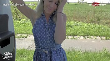 MyDirtyHobby – Blonde German MILF hitchhiker seduced by stranger